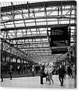 interior of central station Glasgow Scotland UK Canvas Print