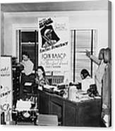 Interior View Of Naacp Branch Office Canvas Print