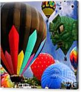 Into The Great Blue Sky - Hot Air Balloon Ride - Hot Air Balloons - Warren County Fair Canvas Print