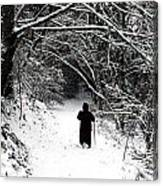 Into The Snowy Forest Canvas Print