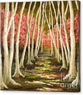 Into The Woods-series With Gold Leaf By Vic Mastis Canvas Print