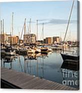 Ipswich Marina Sunset Canvas Print