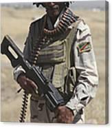 Iraqi Army Soldier Canvas Print