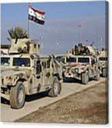 Iraqi Army Soldiers Aboard M1114 Humvee Canvas Print