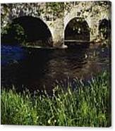 Ireland Bridge Over Water Canvas Print