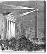 Ireland: Dublin, 1849 Canvas Print