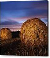Ireland Hay Bales Canvas Print