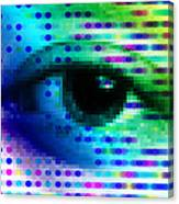 Iris Scanning Canvas Print