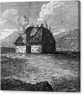 Irish Cabin, 18th Century Canvas Print