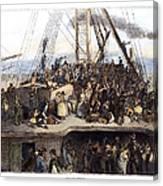 Irish Immigrants, 1850 Canvas Print