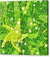 Irish Moss With A Twist Canvas Print