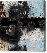 Iron Door Rusted Through Canvas Print