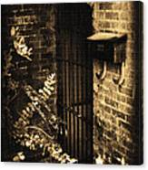 Iron Door Sepia Canvas Print