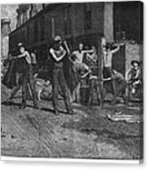 Iron Workers, 1884 Canvas Print