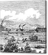 Iron Works, 1855 Canvas Print