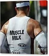 Ironman Muscle Milk Canvas Print