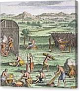 Iroquois Village, 1664 Canvas Print