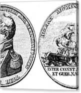 Isaac Hull: Medal Canvas Print