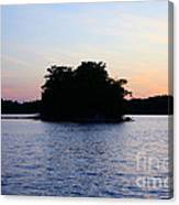 Island Evening Canvas Print