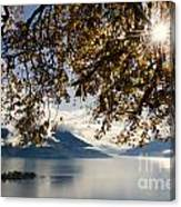 Islands On A Lake In Autumn Canvas Print