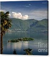 Islands On An Alpine Lake Canvas Print