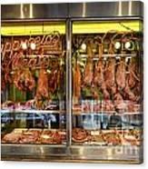 Italian Market Butcher Shop Canvas Print