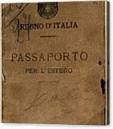Italian Passport. Italian Passport Canvas Print