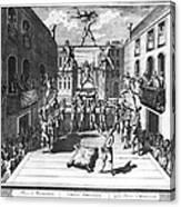 Italy: Acrobats, C1722 Canvas Print