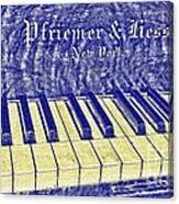 Ivory Blues Canvas Print