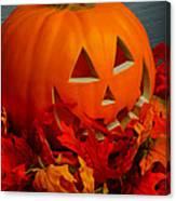 Jack-o-lantern Halloween Display Canvas Print