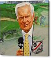 Jack Whitaker At Shinnecock Us Open 1995 Canvas Print
