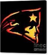 Jacko Lantern Patriots Canvas Print