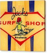 Jacks Surf Shop Canvas Print