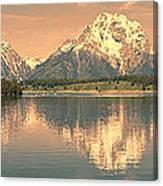 Jackson Lake Reflection Canvas Print
