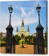 Jackson Square In New Orleans Canvas Print