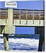 Jacksonville Beach Fishing Pier Canvas Print