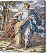 Jacobs Struggle, 19th Cent Canvas Print