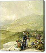 Jacobs Well At Shechem  Canvas Print