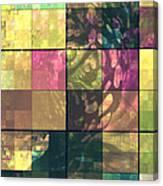Jaguar Geo Pink And Green Canvas Print
