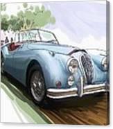 Jaguar X K 140 Canvas Print