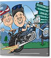 Jaime Caricature Canvas Print