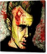 James Dean Zombie Canvas Print