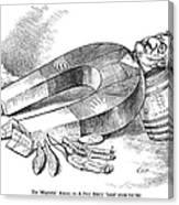 James G. Blaine Cartoon Canvas Print