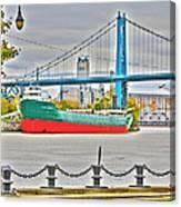 James M Schoonmaker And The Hi-level Bridge Canvas Print