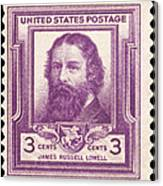 James Russell Lowell Canvas Print