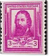 James Russell Lowell Postage Stamp Canvas Print