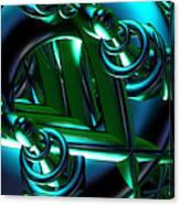 Jammer Blue Green Flux 001 Canvas Print