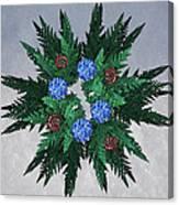 Jammer Blue Red Snow Wreath Canvas Print