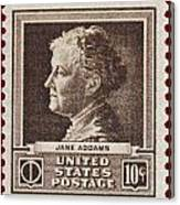 Jane Addams Postage Stamp Canvas Print