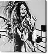 Janis In Black And White Canvas Print